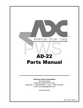 American Dryer Parts - Diagrams, Parts and Manuals for American Dryer AD-22 Dryer