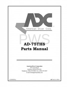 American Dryer Parts - Diagrams, Parts and Manuals for American Dryer AD-75THS Dryer