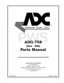 American Dryer Parts - Diagrams, Parts and Manuals for American Dryer ADG-758 Dryer