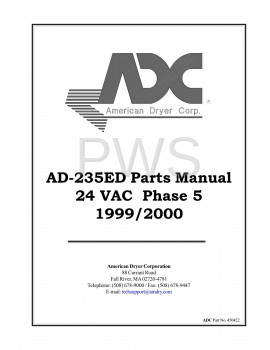 American Dryer Parts - Diagrams, Parts and Manuals for American Dryer AD-235ED Dryer