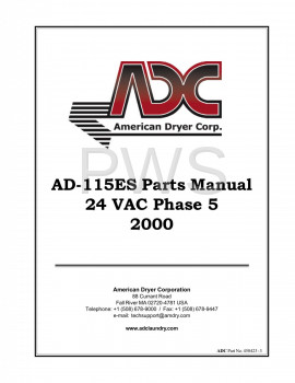 American Dryer Parts - Diagrams, Parts and Manuals for American Dryer AD-115ES Dryer