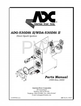 American Dryer Parts - Diagrams, Parts and Manuals for American Dryer ADG-530DSi Dryer