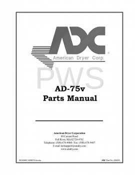 American Dryer Parts - Diagrams, Parts and Manuals for American Dryer AD-75V Dryer