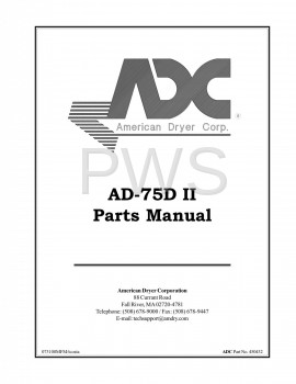 American Dryer Parts - Diagrams, Parts and Manuals for American Dryer AD-75D Dryer