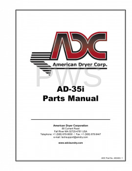 American Dryer Parts - Diagrams, Parts and Manuals for American Dryer AD-35i Dryer