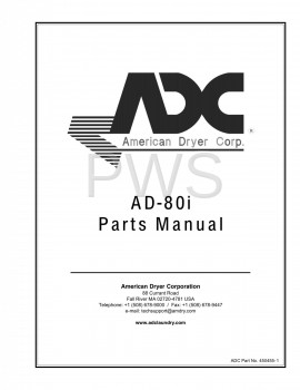American Dryer Parts - Diagrams, Parts and Manuals for American Dryer AD-80i Dryer