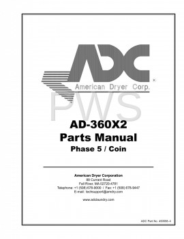 American Dryer Parts - Diagrams, Parts and Manuals for American Dryer AD-360X2 Dryer