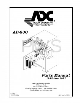 American Dryer Parts - Diagrams, Parts and Manuals for American Dryer AD-830 Dryer