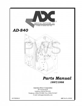 American Dryer Parts - Diagrams, Parts and Manuals for American Dryer AD-840 Dryer