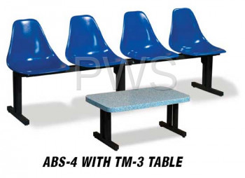 Sol-O-Matic - Sol-O-Matic ABS-4 Modular Seating Unit without Table Tops
