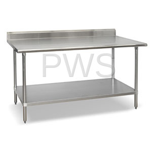 Sol-O-Matic - Sol-O-Matic SST-246-B Stainless Steel Work Table with Backsplash