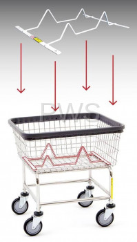 R&B Wire Products - R&B Wire #100BSKINSRT Laundry Cart Basket Inhibitor