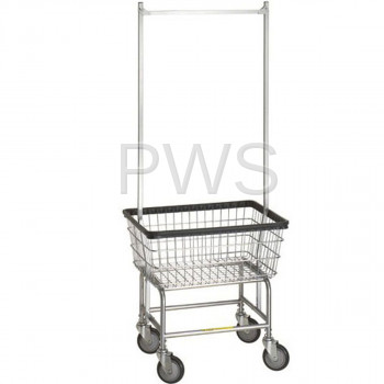 R&B Wire Products - R&B Wire 100E58 Rolling Standard Laundry Cart - Chrome