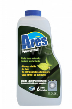 Ares Pro HD Green Liquid Coin Laundry Detergent Over the Counter Size (18 oz) - Laundromat