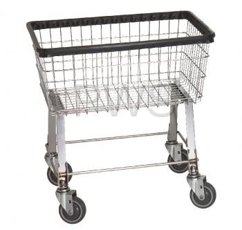 R Amp B Economy Laundry Cart Chrome Basket P N 96b Comml