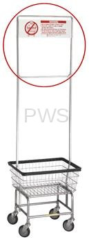 R&B Wire Products - One Piece Rack Extender with Sign for 58 Rack