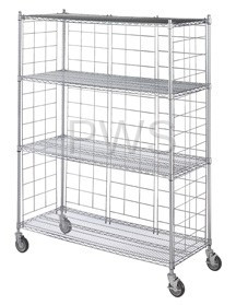 """R&B Wire Products - R&B Wire LC1860-KIT Chrome Plated Side & Back Enclosure Panels for 18"""" Wide Units (5 each)"""