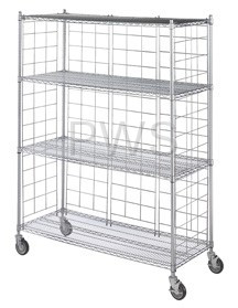 """R&B Wire Products - R&B Wire LC2436-KIT Chrome Plated Side & Back Enclosure Panels for 24"""" Wide Units (4 each)"""