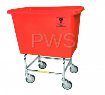 R&B Wire Products - R&B Wire 466PT 6 Bushel Elevated Truck with Poly Tub