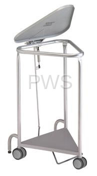 R&B Wire Products - R&B Wire 669SS Deluxe Triangular Hamper w/Lid Damping Function, Stainless Steel