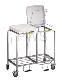 """R&B Wire Products - R&B Wire 674NB Double """"Easy Access"""" Hamper w/Foot Pedal - No Bag"""