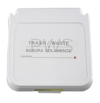 R&B Wire Products - R&B Wire 602TWT Receptacle Label, Trash/Waste - Tan Lettering (Pack of 5)
