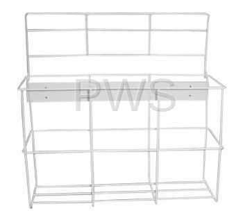 R&B Wire Products - R&B Wire HOLDER-TRIPLE/1GL Bottle Holder w/Locking Lid for Three I GL Containers, White