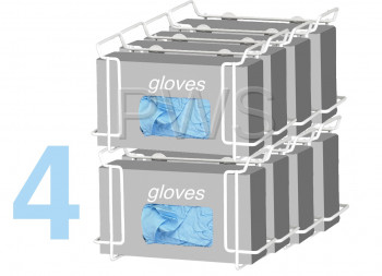 R&B Wire Products - R&B Wire 552B Double Wire Glove Box Dispenser, White (4 pack)
