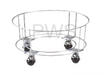 "R&B Wire Products - R&B Wire RWB-BASE Base for Round Wire Utility Basket w/2"" Hooded Casters"