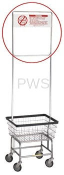 R&B Wire Products - R&B Wire 910 One Piece Rack Extender w/Custom Signage (front & back) for 58 Rack