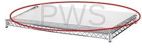 """R&B Wire Products - R&B Wire SH2460PI 24x60 1/8"""" White ABS Textured Protective Shelf Insert"""