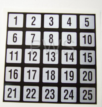Miscellaneous Parts - NUMBER STICKER